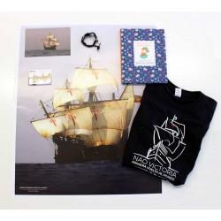Camiseta de niño+ libro pequeños relatos+ pulsera + imán + postal + póster