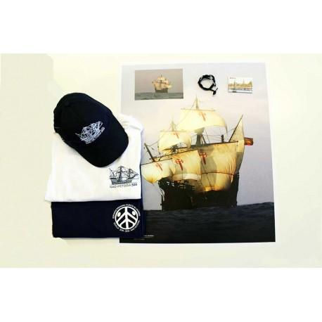 2 camisetas + gorra + imán + postal + póster